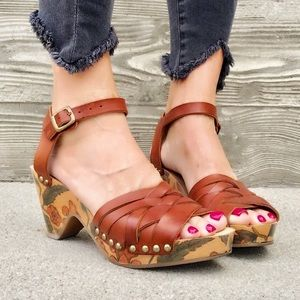 Isabel Marant hand painted sandal clogs